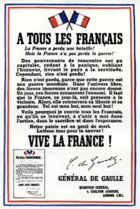 Appel du 18 juin du général de Gaulle