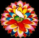 ibis au coeur de la fleur de lotus