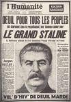 la mort de Staline, deuil pour tous les peuples